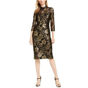 NWOT RACHEL ROY METALLIC NADIA LACE COCKTAIL DRESS